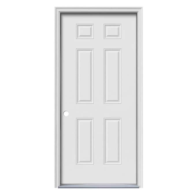 Reliabilt 32 In X 80 In Steel Right Hand Inswing Primed Prehung Single Front Door Brickmould Included In The Front Doors Department At Lowes Com Interior single door system (780). reliabilt 32 in x 80 in steel right hand inswing primed prehung single front door brickmould included