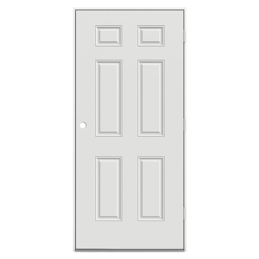 ReliaBilt Left-Hand Outswing Steel Primed Entry Door (Common: 36-in x 80-in; Actual: 37.5000-in x 80.3750-in)