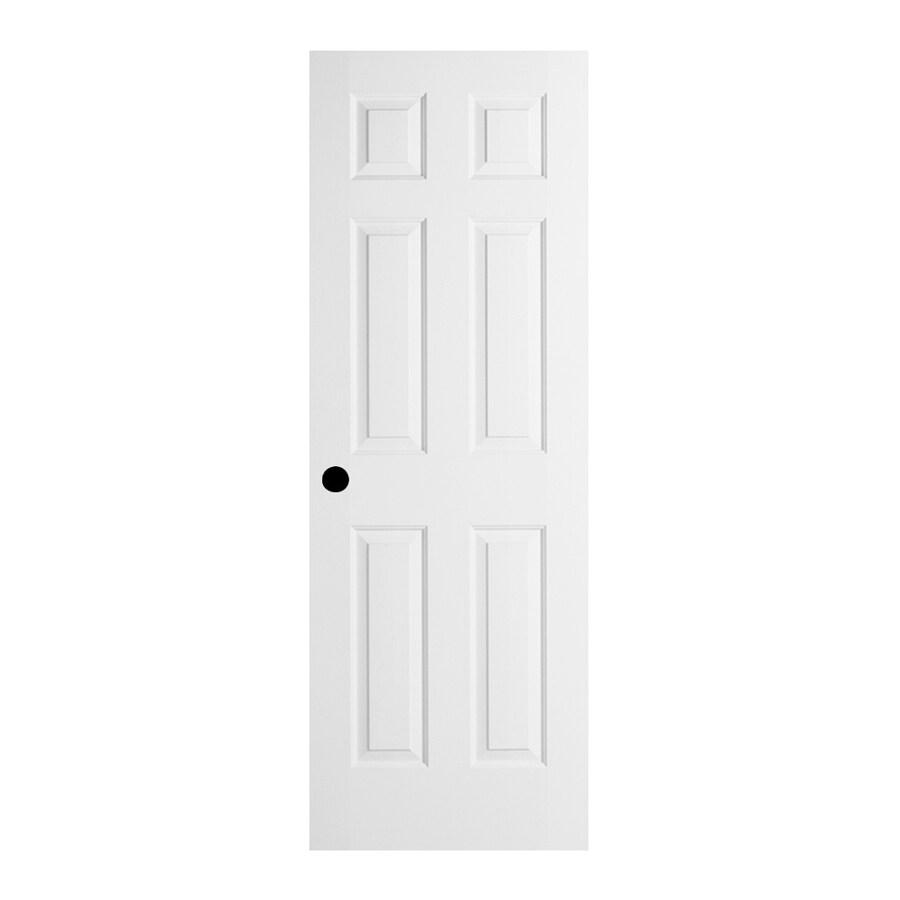 JELD-WEN 6-Panel Insulating Core Steel Primed Slab Entry Door (Common: 36-in x 80-in; Actual: 37.5-in x 81.75-in)
