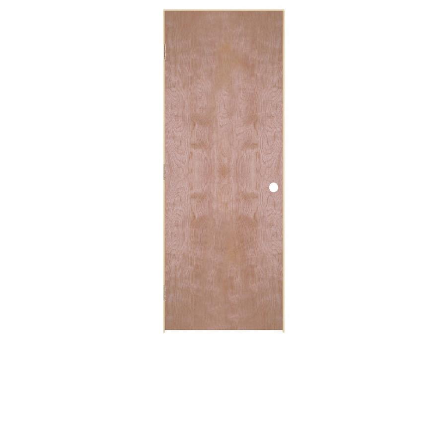 ReliaBilt Flush Birch Single Prehung Interior Door (Common: 36-in x 80-in; Actual: 37.5000-in x 81.5000-in)