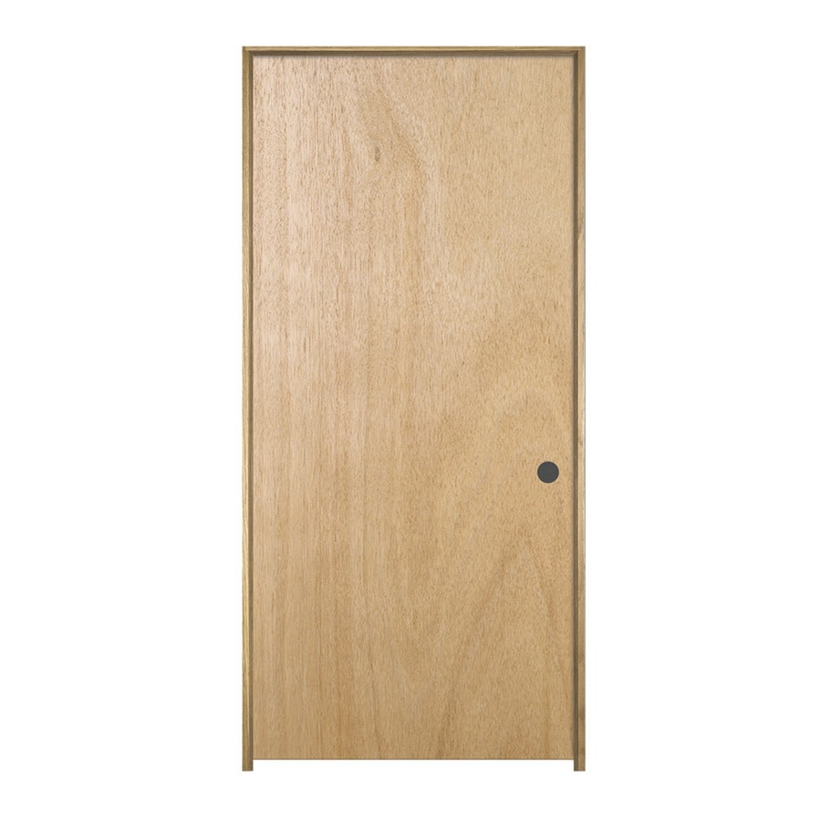 ReliaBilt Prehung Hollow Core Flush Lauan Interior Door (Common: 18-in x 80-in; Actual: 19.562-in x 81.688-in)