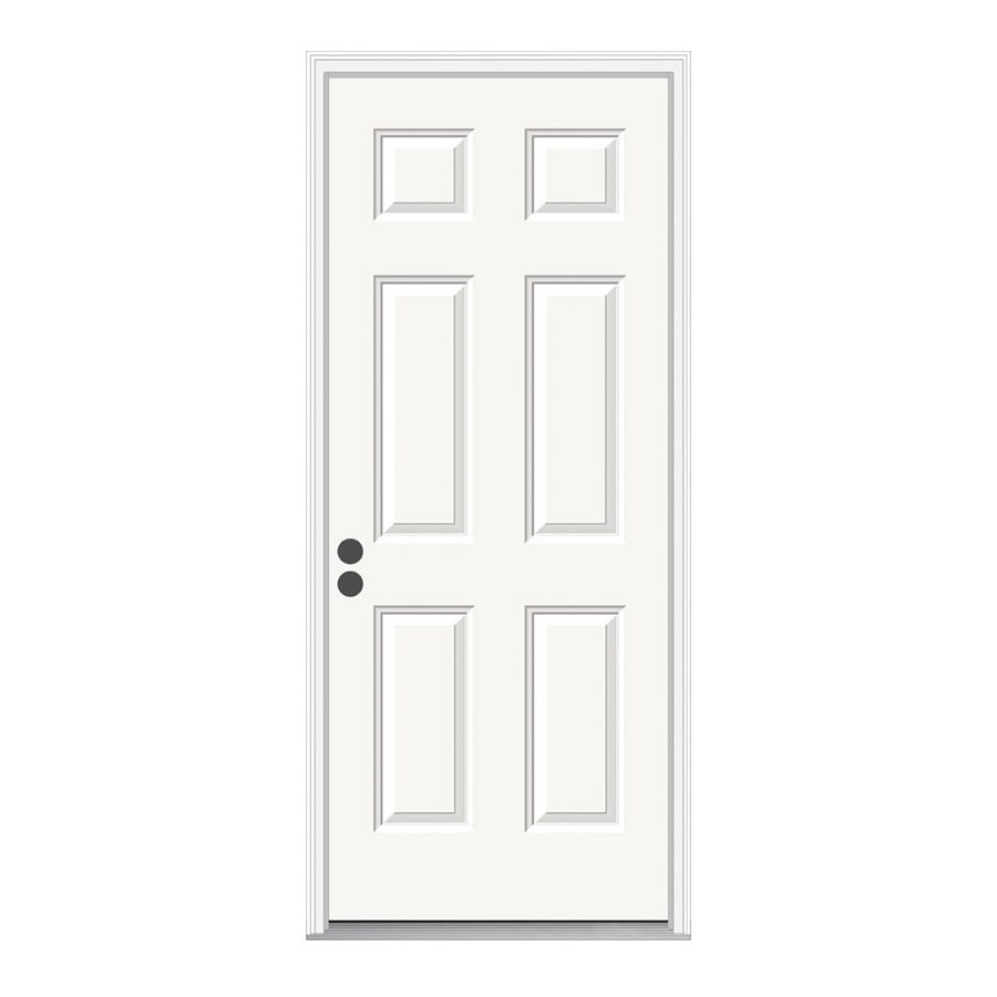 Beautiful ReliaBilt Right Hand Inswing Primed Steel Prehung Entry Door With  Insulating Core (Common: