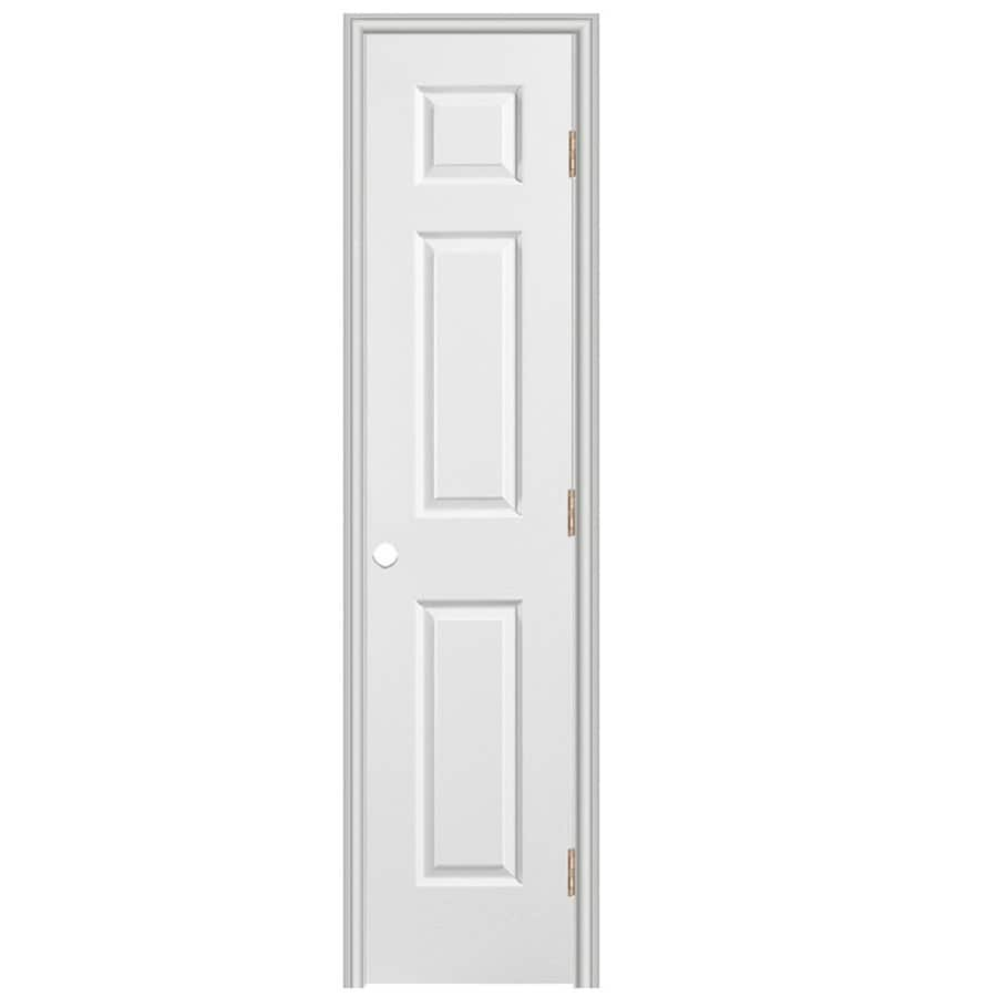 ReliaBilt 6-panel Single Prehung Interior Door (Common: 18-in x 80-in; Actual: 19.5-in x 81.5-in)