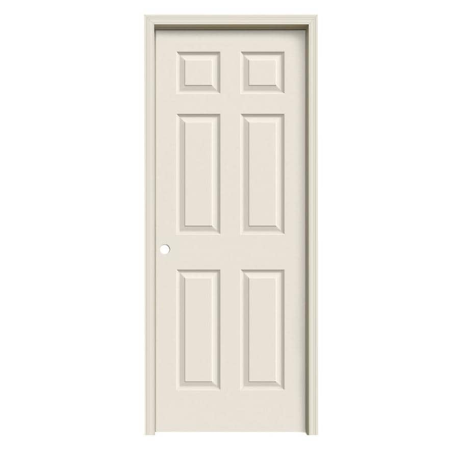 ReliaBilt Colonist Primed Hollow Core Molded Composite Single Prehung Interior Door (Common: 24-in x 80-in; Actual: 25.5-in x 81.5-in)
