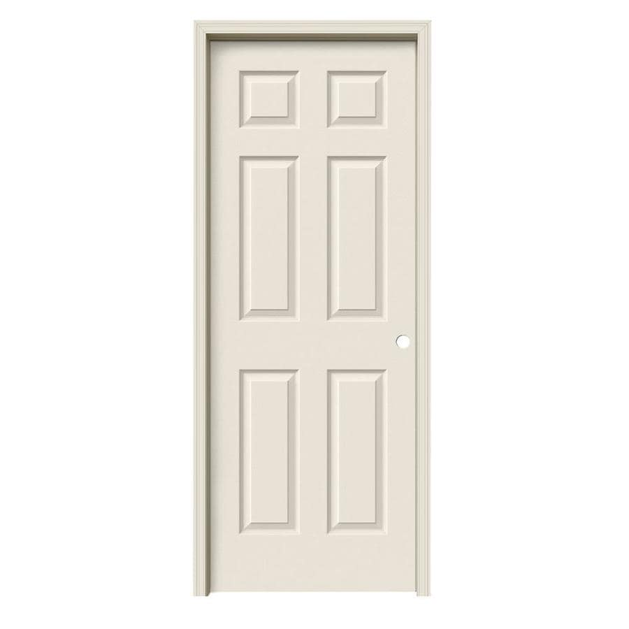 Jeld Wen Colonist Primed 6 Panel Hollow Core Molded Composite Pre Hung Door Common 32 In X 80