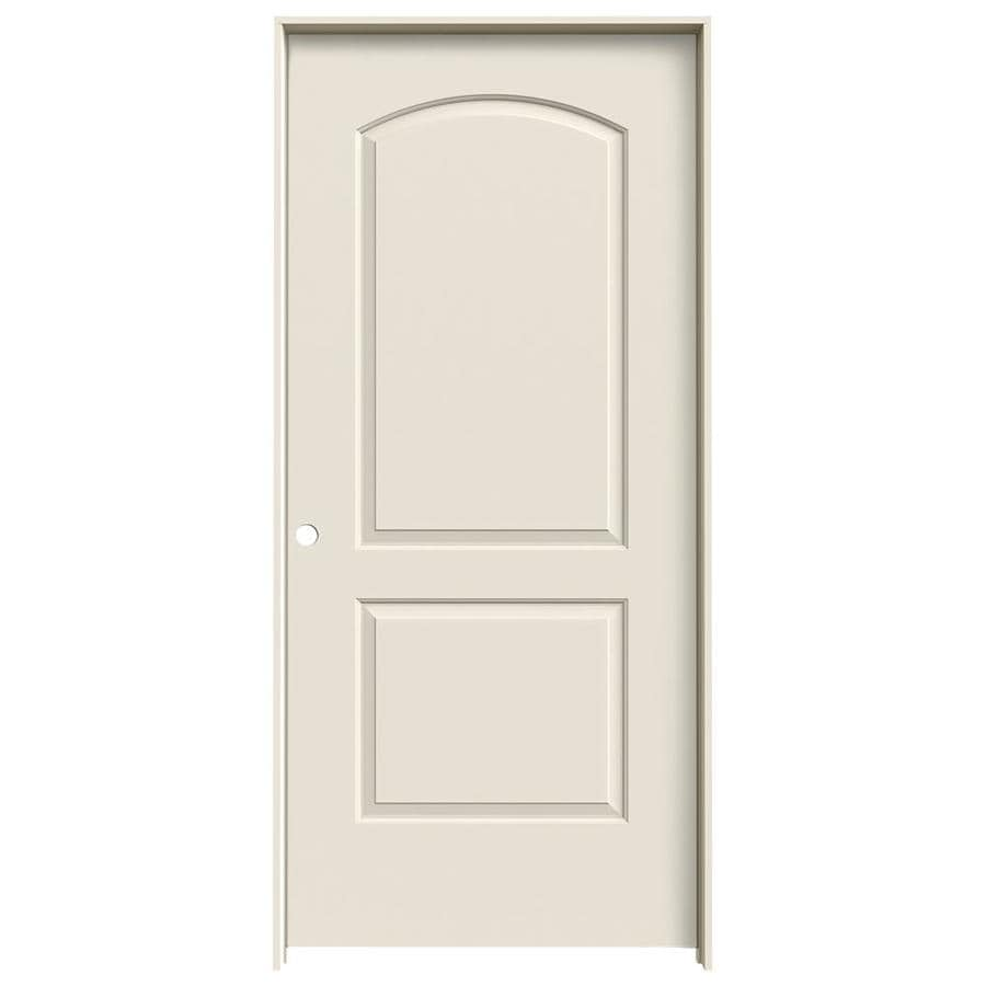 ReliaBilt Prehung Hollow Core 2-Panel Round Top Interior Door (Common: 36-in x 80-in; Actual: 37.5-in x 81.5-in)