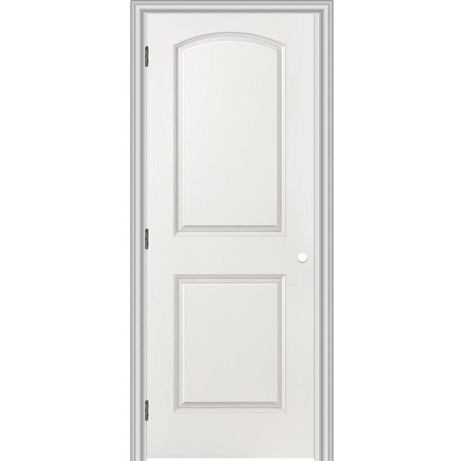ReliaBilt Prehung Hollow Core 2-Panel Round Top Interior Door (Common: 30-in x 80-in; Actual: 31.5-in x 81.5-in)
