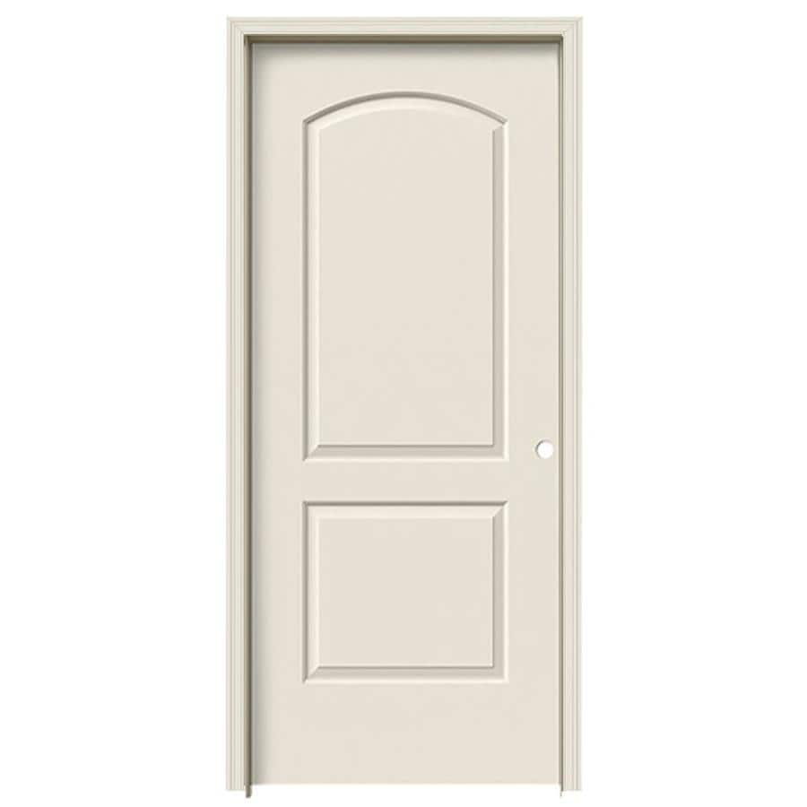 ReliaBilt 2-panel Round Top Single Prehung Interior Door (Common: 36-in x 80-in; Actual: 37.5-in x 81.5-in)