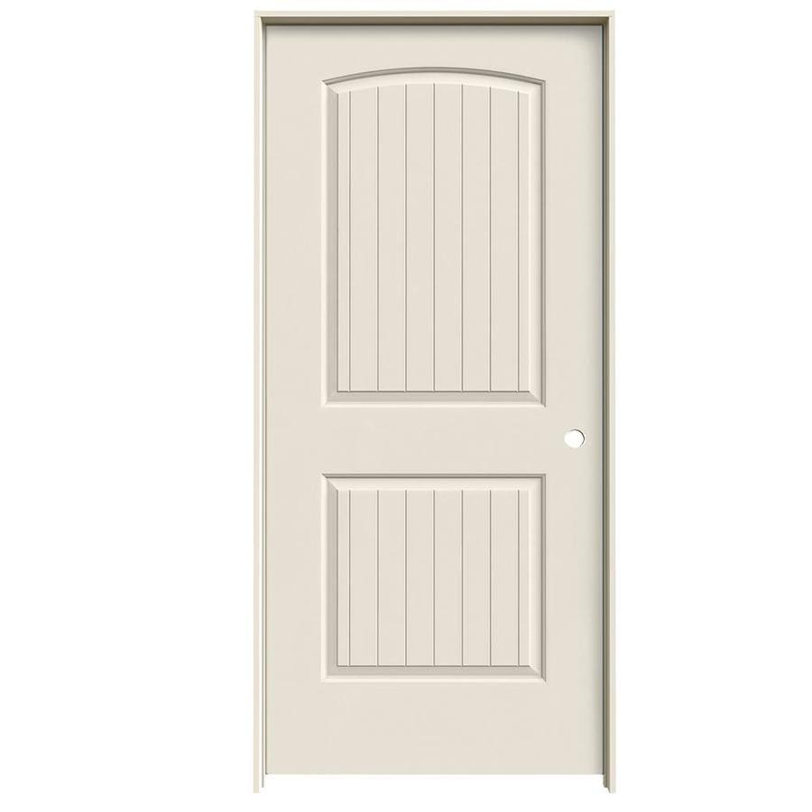 ReliaBilt Prehung Hollow Core 2-Panel Round Top Plank Interior Door (Common: 36-in x 80-in; Actual: 37.5-in x 81.5-in)