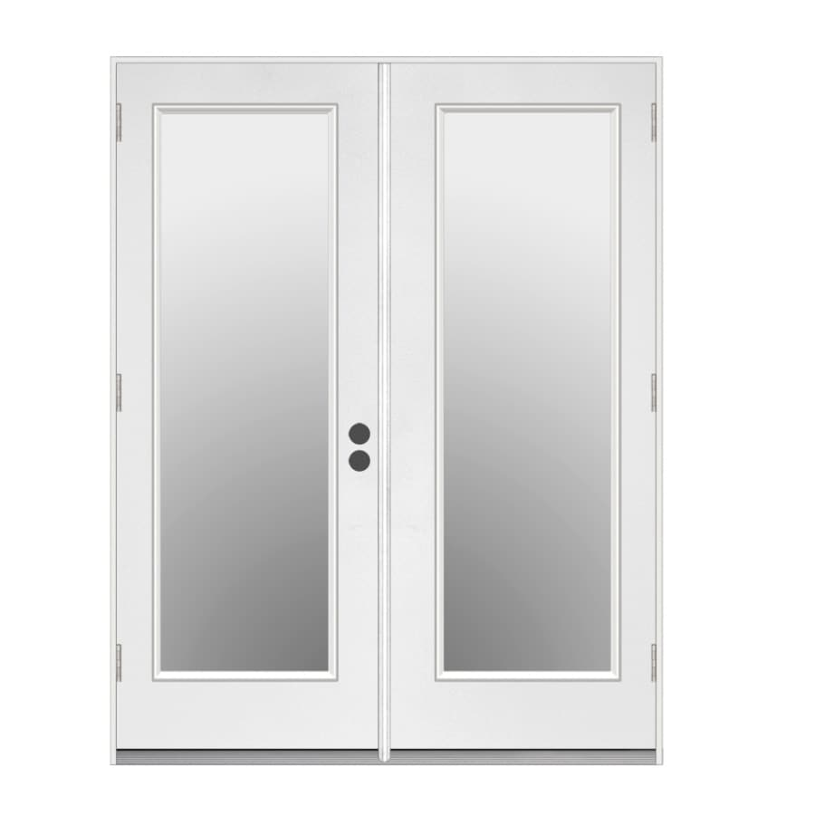 ReliaBilt 71.5-in 1-Lite Glass Primer White Steel French Outswing Patio Door