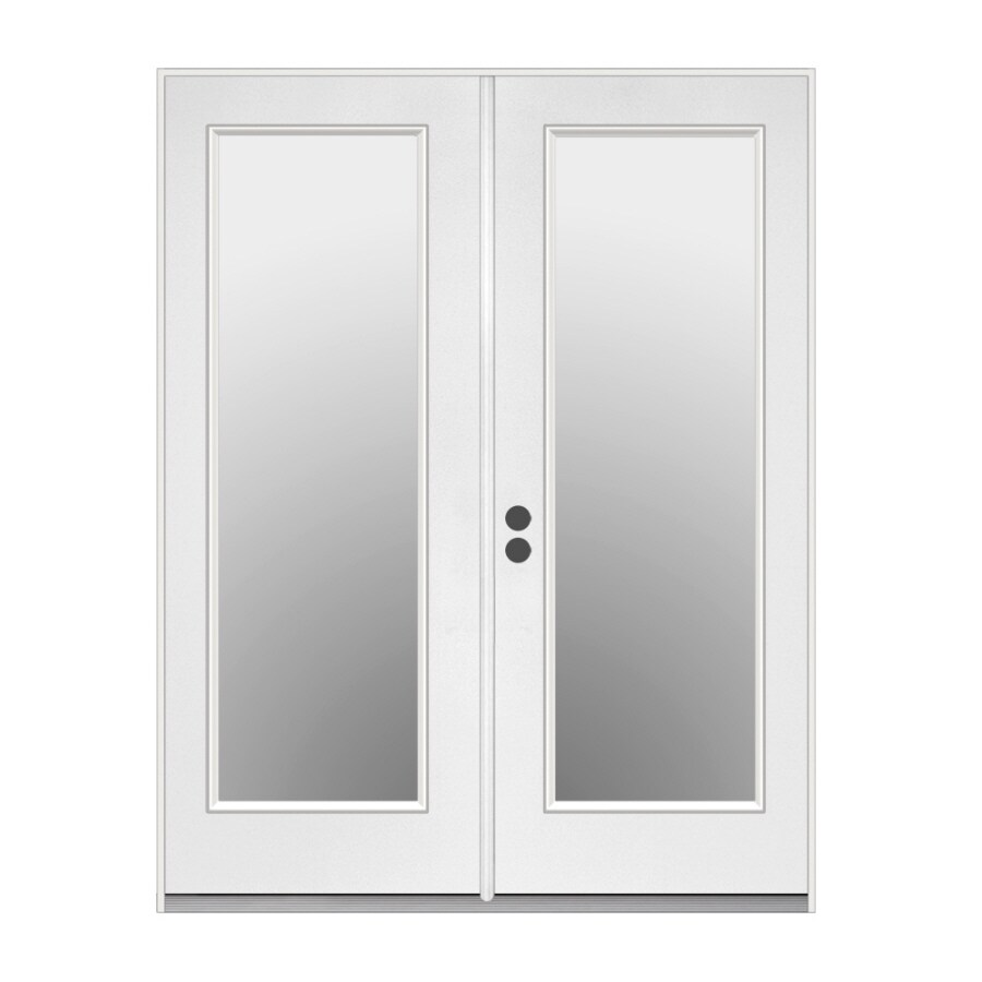 Shop reliabilt 71 5 in x 79 5 in right hand inswing white for Full glass patio door