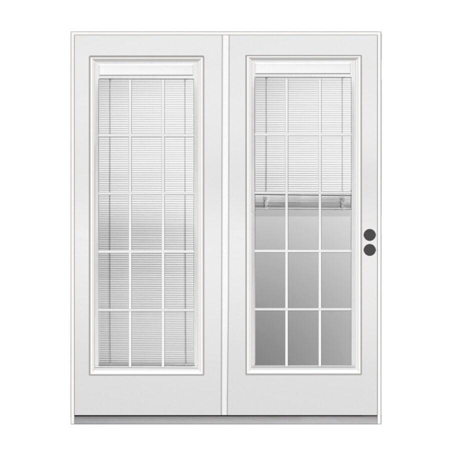 Reliabilt 71 5 In Triple Pane Blinds Between The Gl Steel French Inswing Patio Door