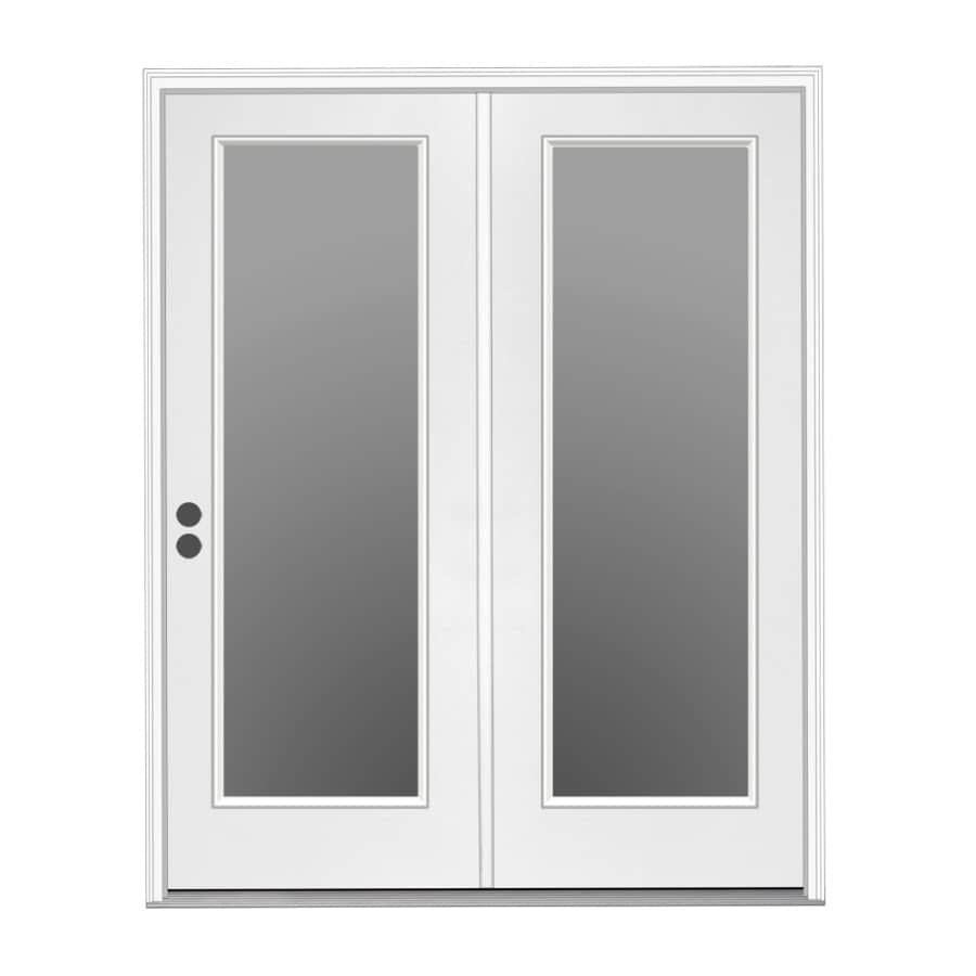 center hinged patio doors. ReliaBilt 71.5-in X 79.5-in Right-Hand Inswing White Steel Center- Center Hinged Patio Doors B