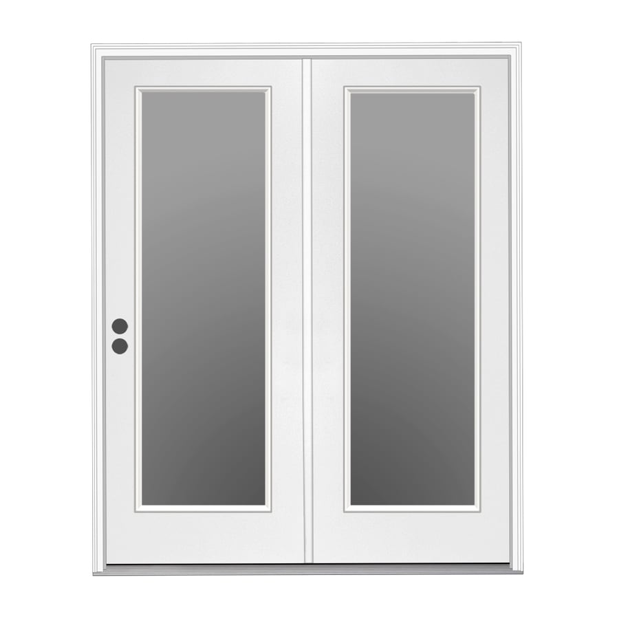Shop Reliabilt Right Hand Inswing Steel Center Hinged Patio Door At
