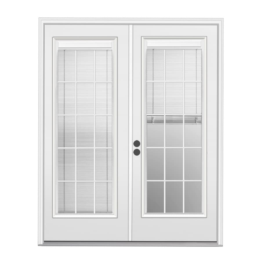 Shop patio doors at lowes reliabilt 715 in x 795 in blinds between the glass right hand inswing rubansaba