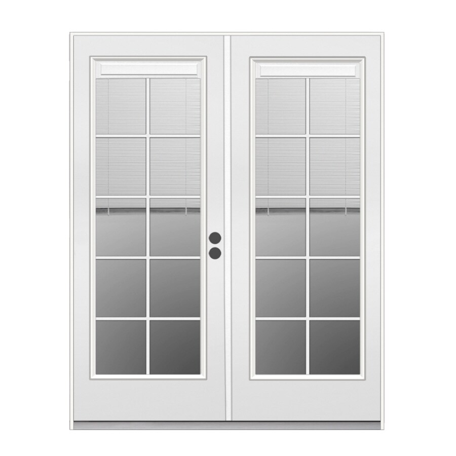 French Exterior Doors Steel: ReliaBilt Blinds Between The Glass Steel Left-Hand Inswing