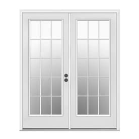 Shop patio doors at lowes reliabilt 715 in x 795 in left hand inswing white steel french patio planetlyrics Gallery