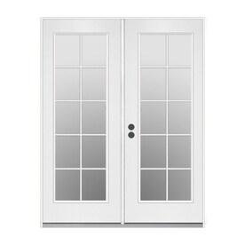 ReliaBilt 71.5 In 10 Lite Glass Steel French Inswing Patio Door