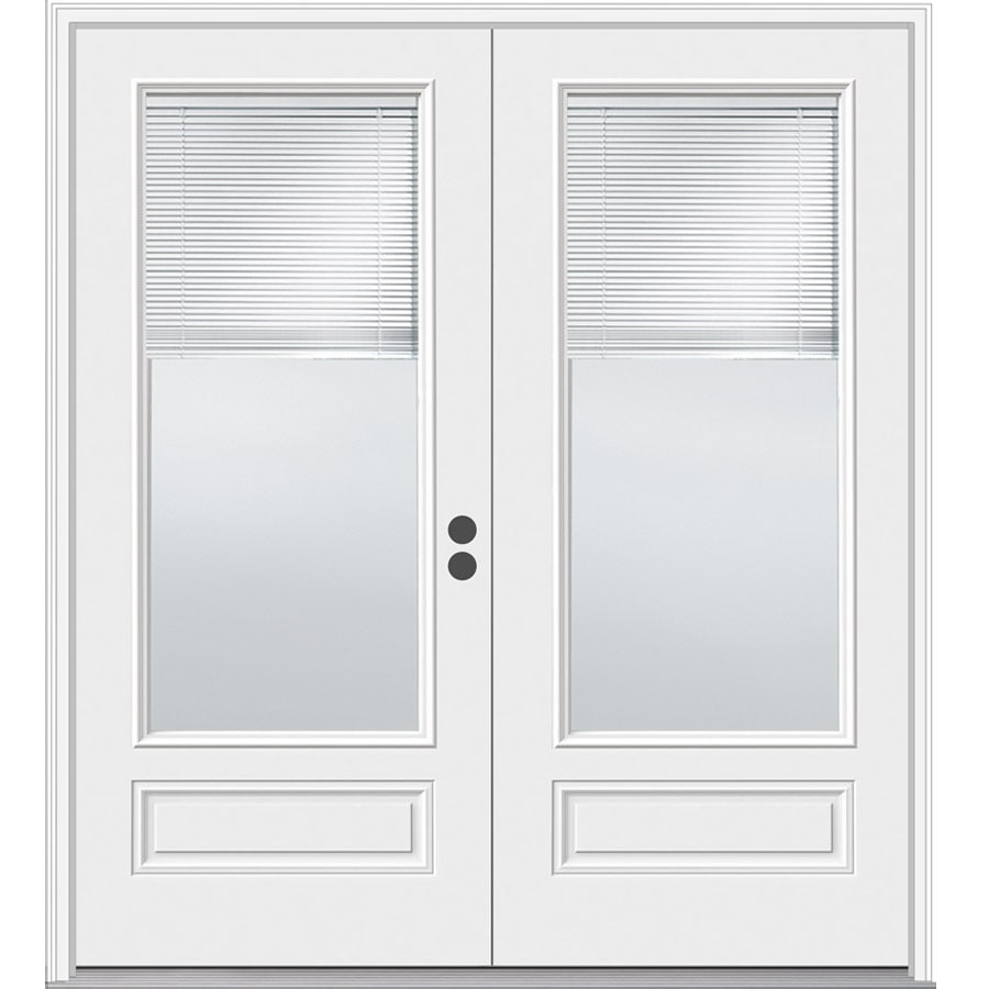 Shop jeld wen 71 5 in blinds between the glass composite for French doors exterior inswing