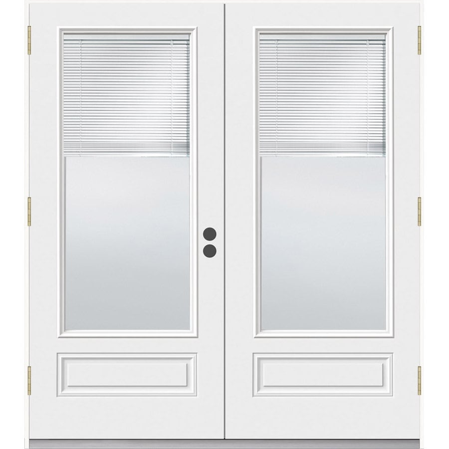 Shop jeld wen 71 5 in blinds between the glass composite for Glass french doors exterior