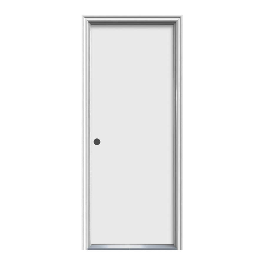 ProSteel Decorative Glass Right-Hand Inswing Steel Primed Entry Door (Common: 30-in x 80-in; Actual: 31.5000-in x 81.5000-in)
