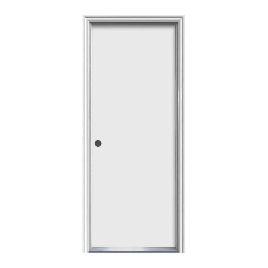 ProSteel 31.5-in x 81.75-in Flush Prehung Inswing Steel Entry Door