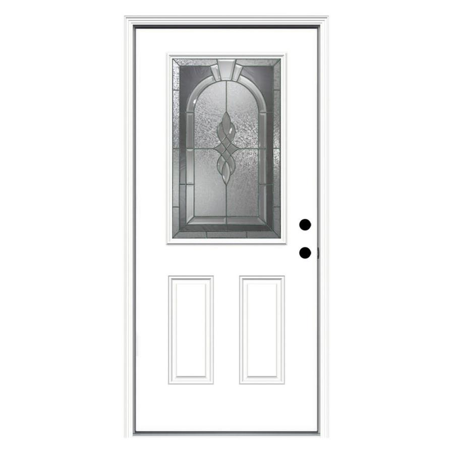 Shop reliabilt hampton decorative glass left hand inswing for Half glass exterior door