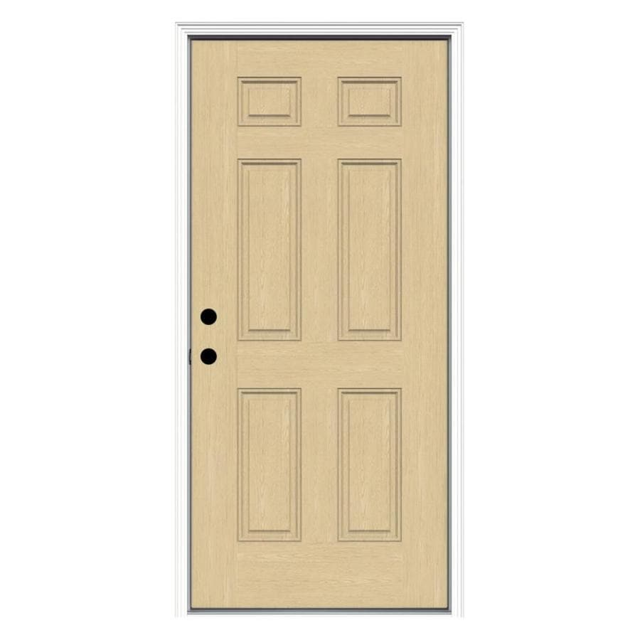 ReliaBilt Right-Hand Inswing Fiberglass Prehung Entry Door with Insulating Core (Common: 36-in x 80-in; Actual: 37.5-in x 81.75-in)