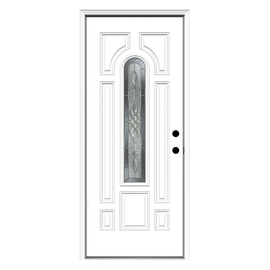 ReliaBilt 33.5-in x 81.75-in Center Arch Lite Prehung Inswing Steel Entry Door Prehung