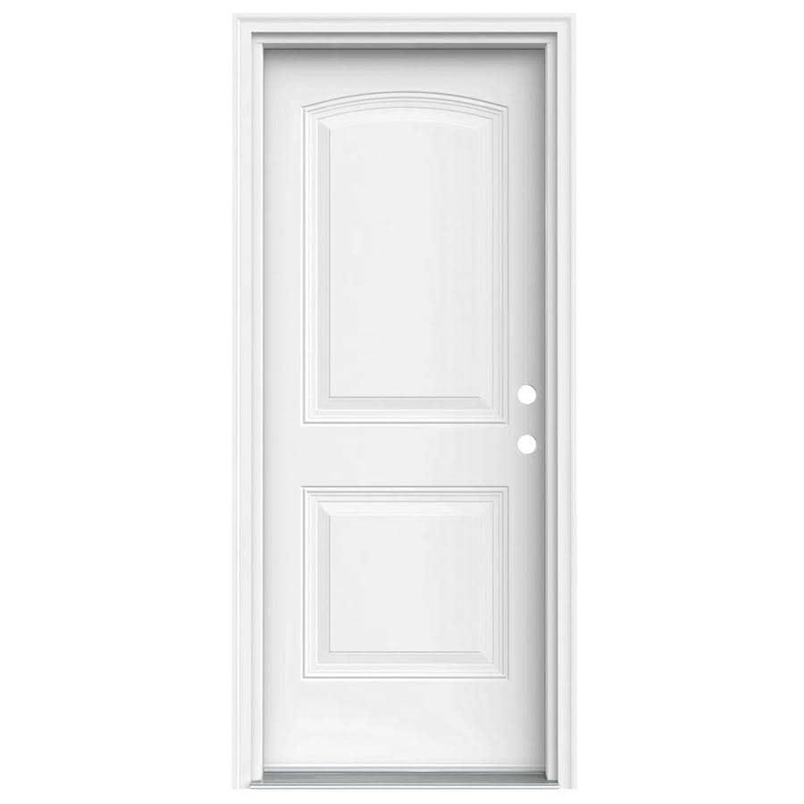 Shop Jeld Wen Left Hand Inswing Primed Steel Prehung Entry Door With