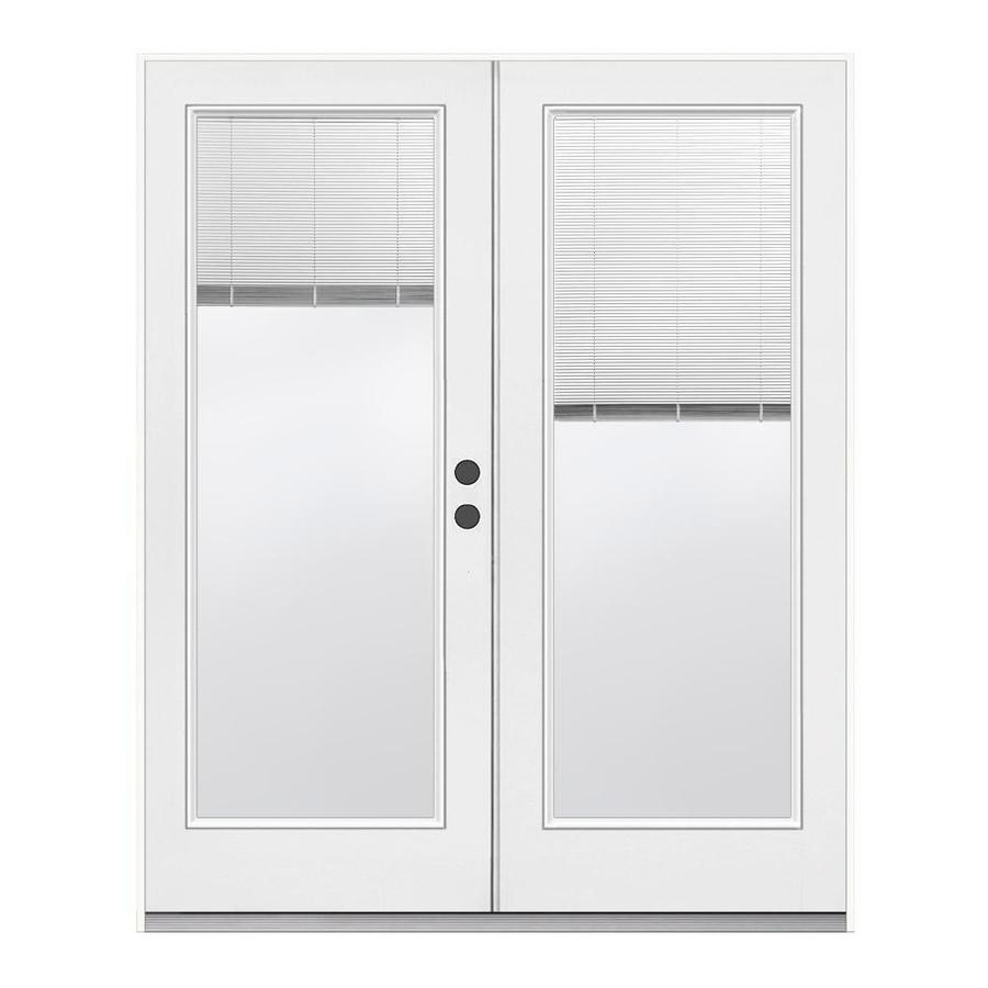 ReliaBilt 71.5-in Blinds Between the Glass Primed Steel French Inswing Patio Door