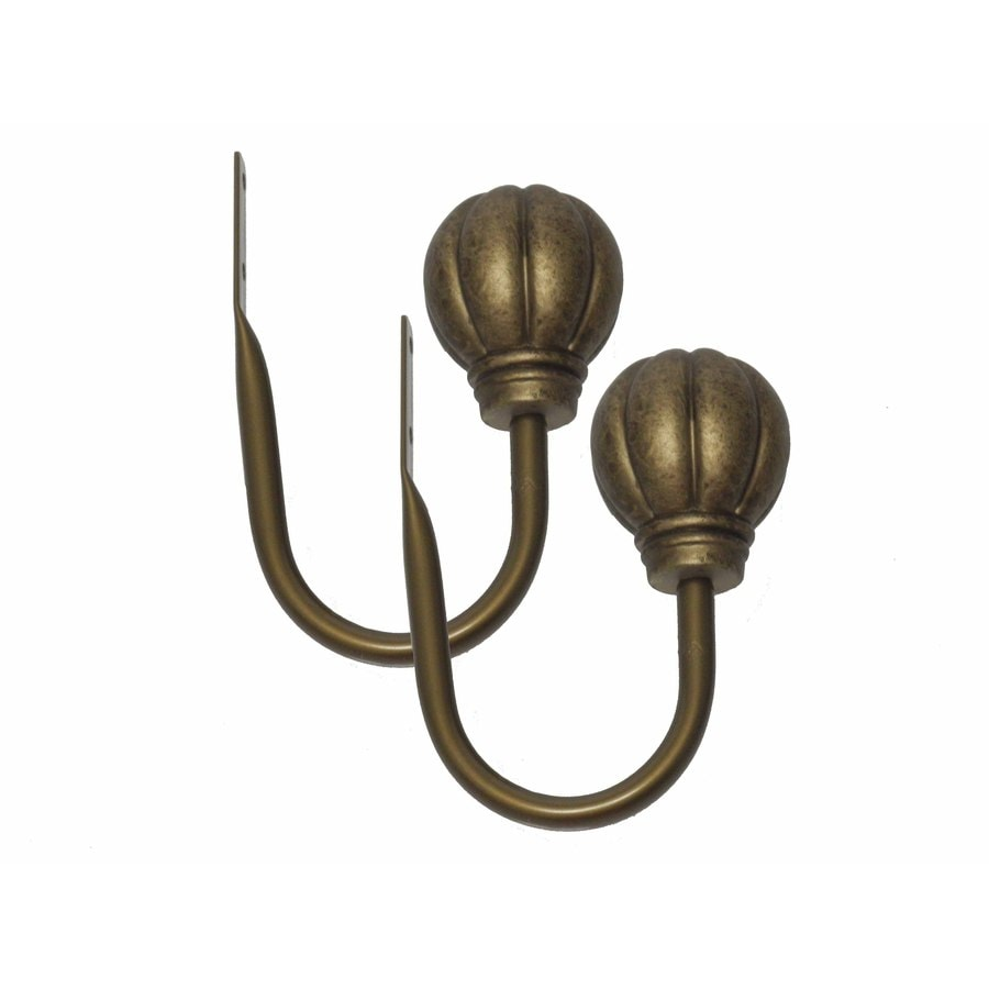 Waverly 2-Pack Gold Brass Curtain Holdbacks