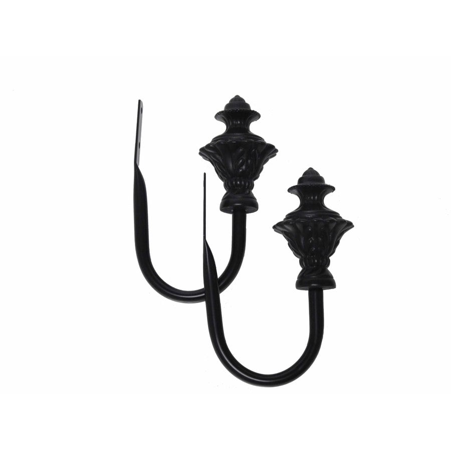 Waverly 2-Pack Black Brass Curtain Holdbacks