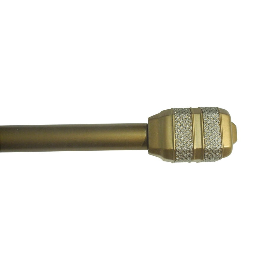 Waverly 28-in to 48-in Gold Aluminum Single Curtain Rod