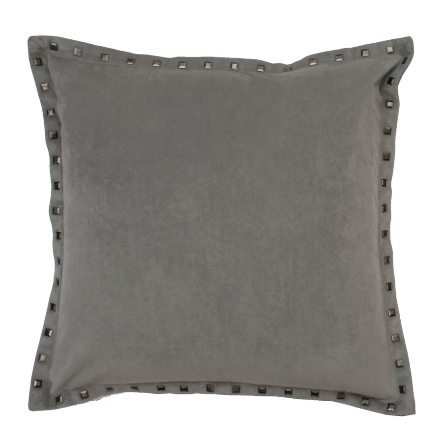 Payton 19-in W x 19-in L Silver Square Indoor Decorative Pillow