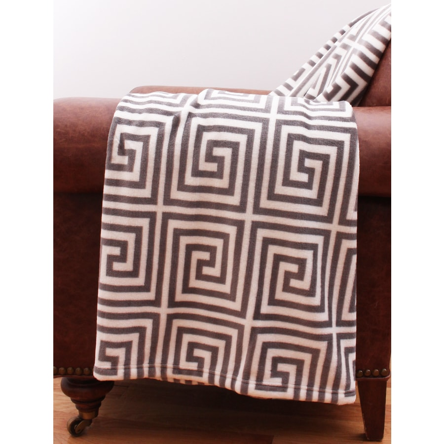 Charcoal 60-in L x 50-in W Polyester Throw