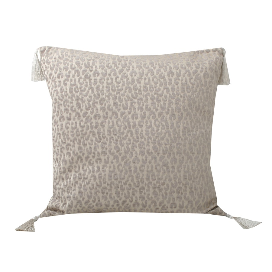 Gabriella Cheetah 20-in W x 20-in L Simple Taupe Indoor Decorative Pillow