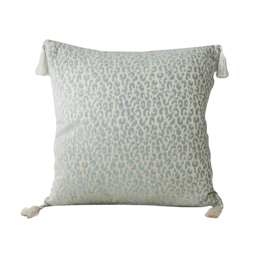 Gabriella Cheetah 20-in W x 20-in L Nile Blue Indoor Decorative Pillow