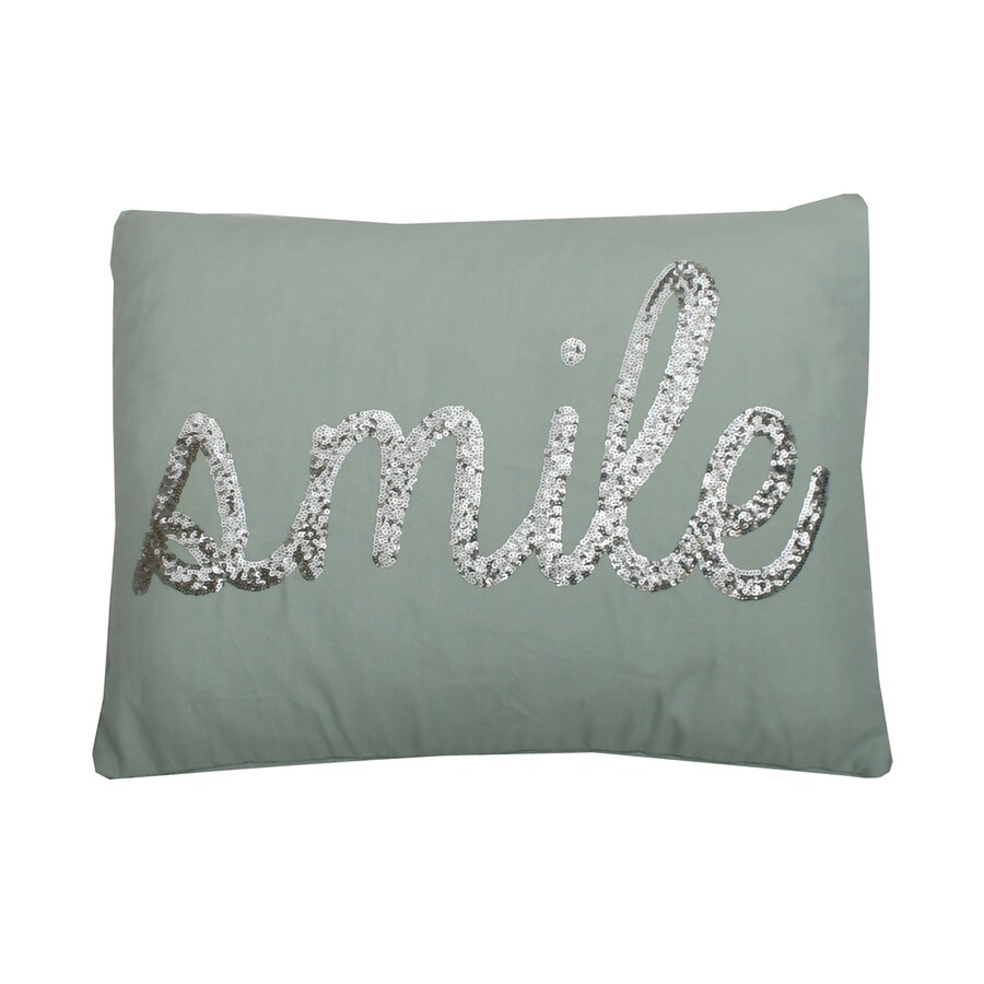 18-in W x 14-in L Harbor Silver Indoor Decorative Pillow