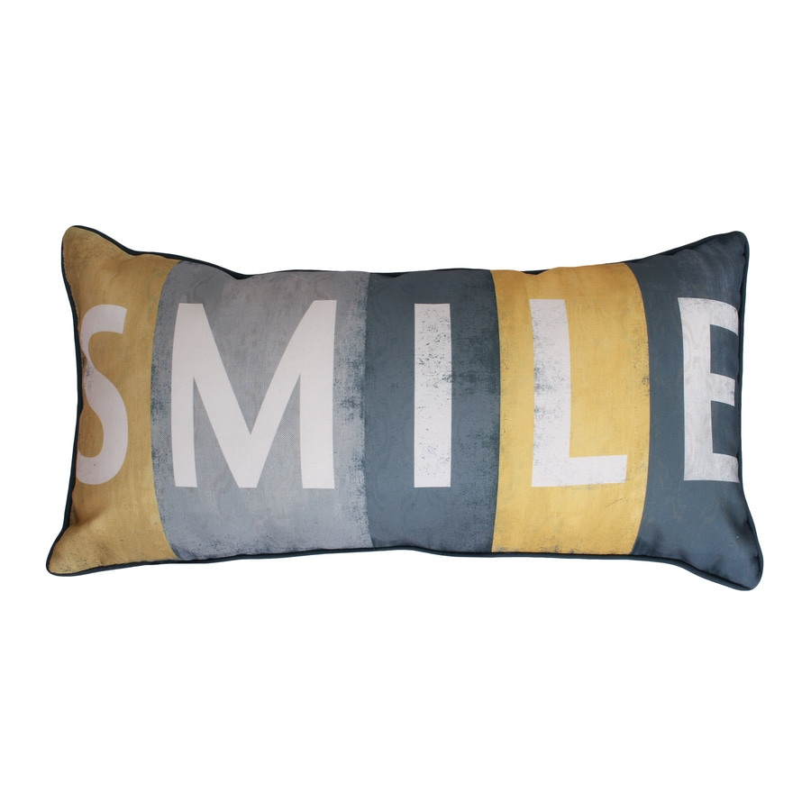 27-in W x 12-in L Yellow Rectangular Indoor Decorative Pillow