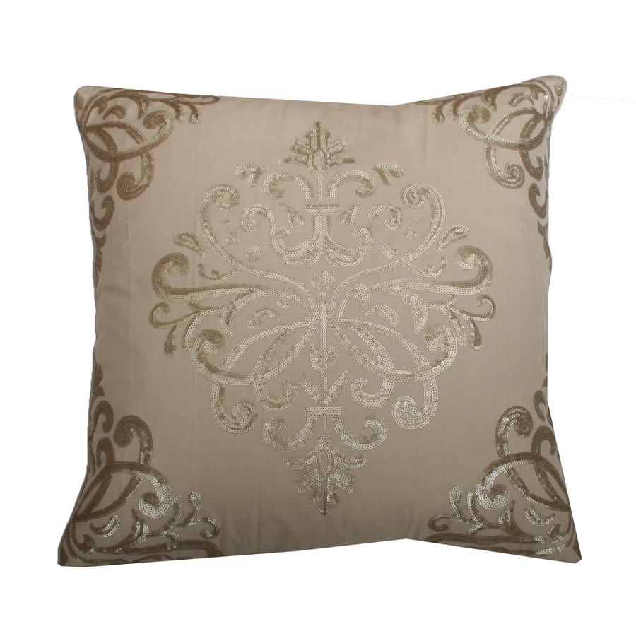 Decorative Pillow Covers Lowes : Shop 20-in W x 20-in L Natural Indoor Decorative Pillow at Lowes.com