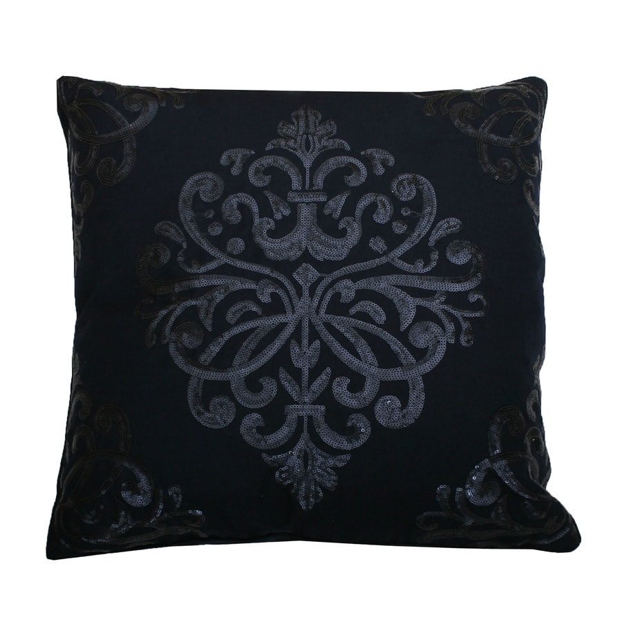 20-in W x 20-in L Navy Blazer Square Indoor Decorative Pillow
