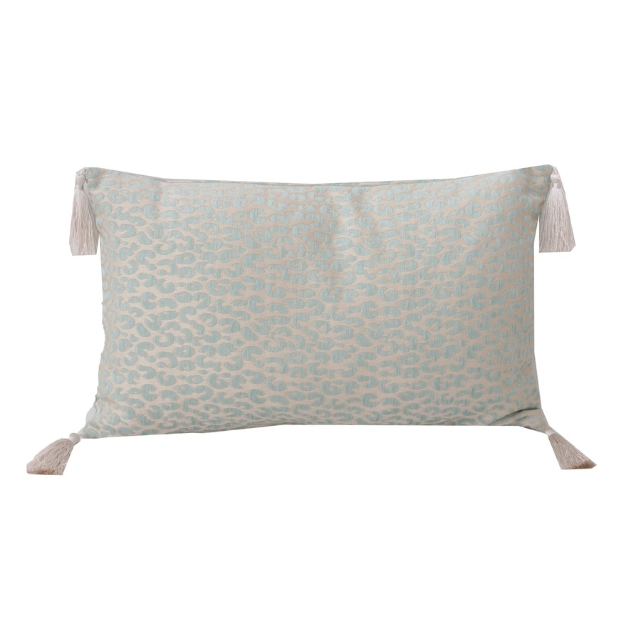 Gabriella Cheetah 20-in W x 12-in L Nile Blue Rectangular Indoor Decorative Pillow