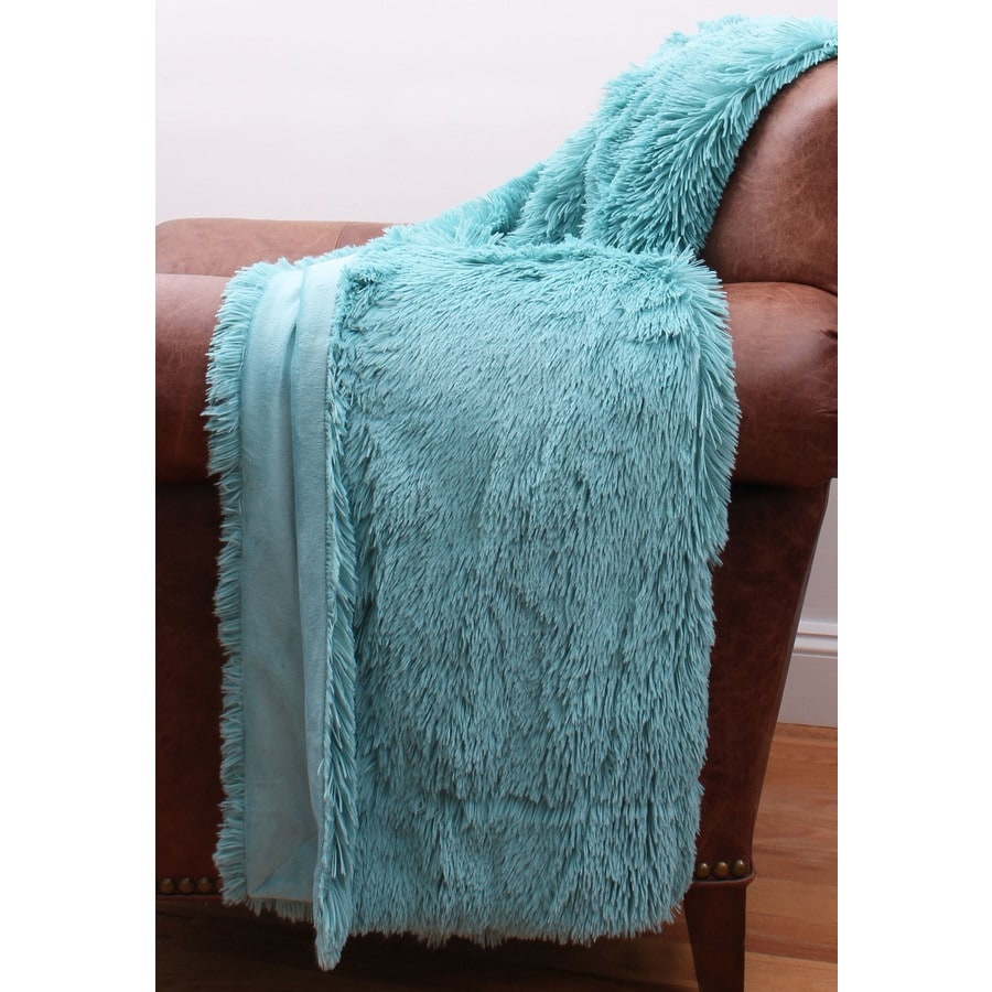 Chubby Faux Fur Nile 60-in L x 50-in W Polyester Throw