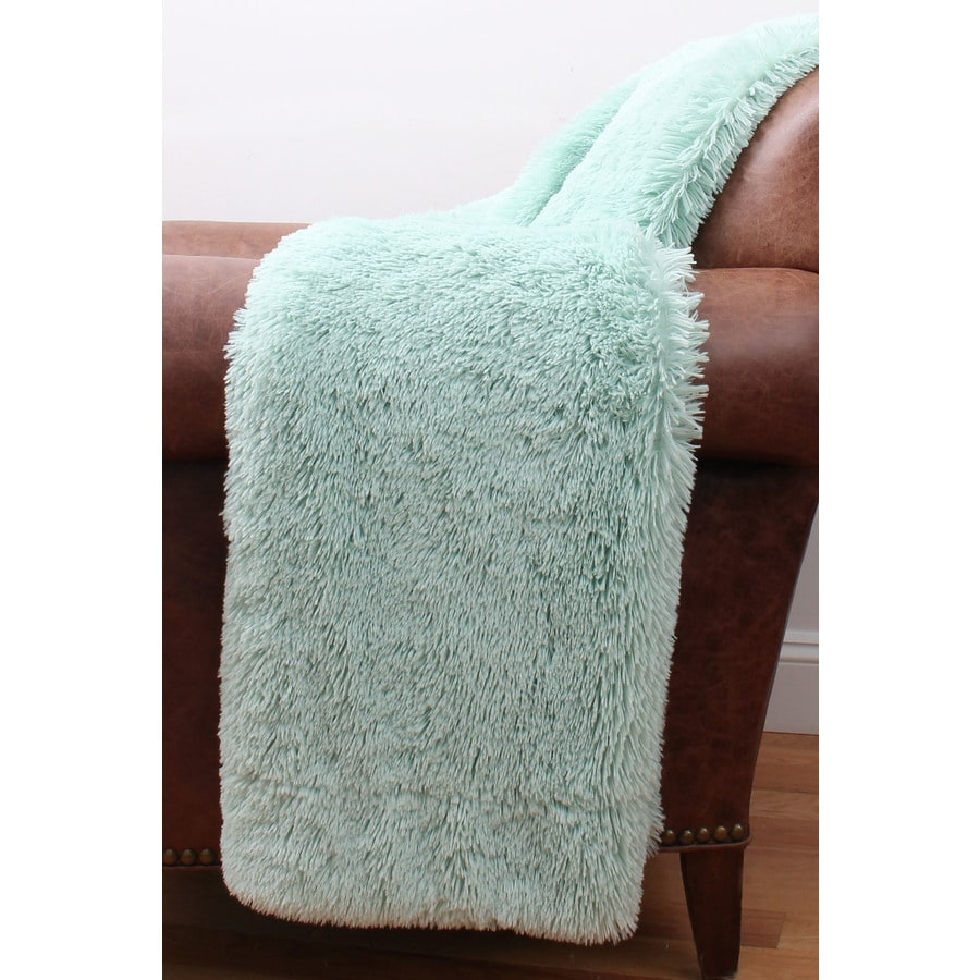 Chubby Faux Fur Harbor 60-in L x 50-in W Polyester Throw