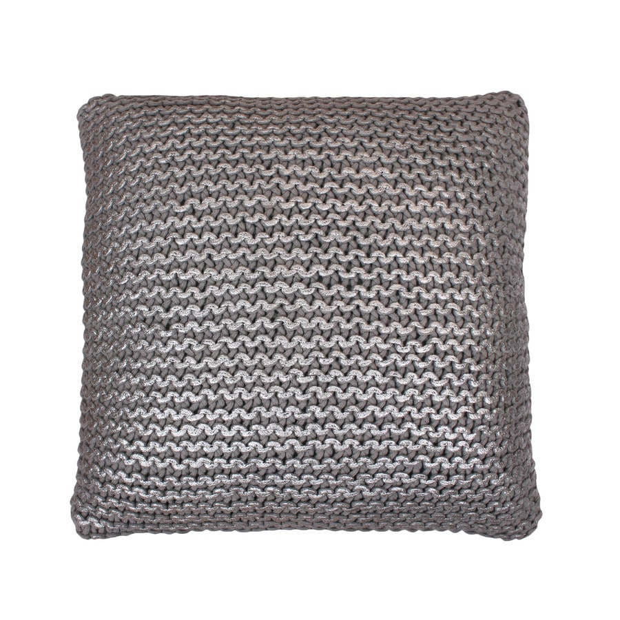 19-in W x 19-in L Silver Square Indoor Decorative Pillow