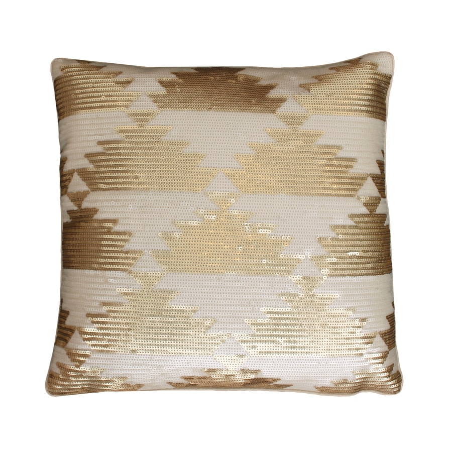 18-in W x 18-in L Gold Indoor Decorative Pillow
