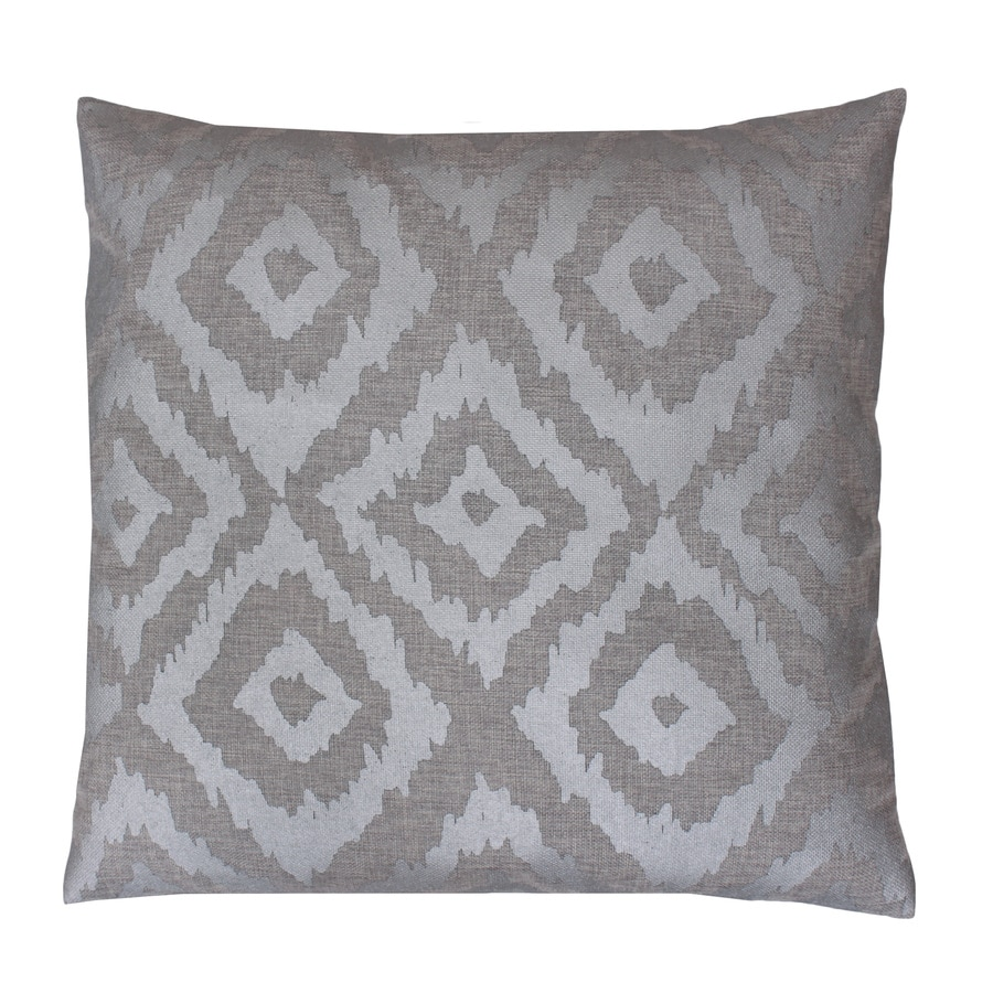 20-in W x 20-in L Silver Indoor Decorative Pillow