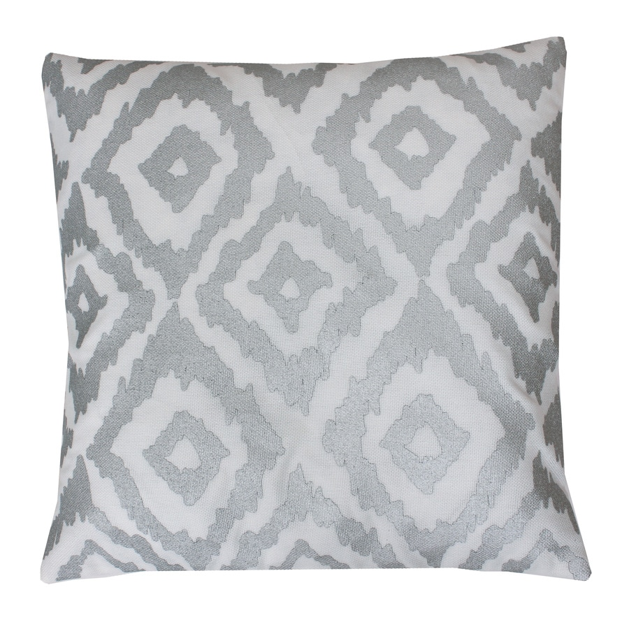 Decorative Pillow Covers Lowes : Shop 20-in W x 20-in L White Indoor Decorative Pillow at Lowes.com