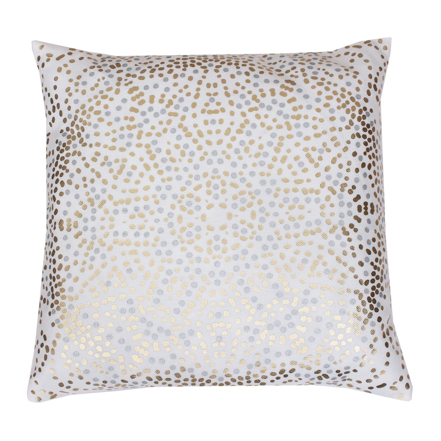 20-in W x 20-in L White Square Indoor Decorative Pillow